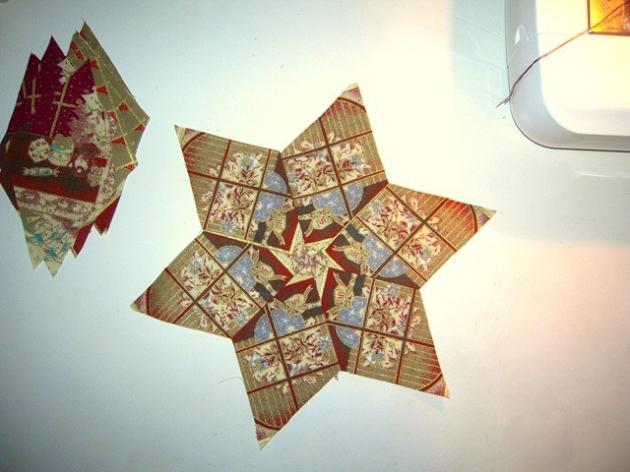 estrella con plantilla de rombo